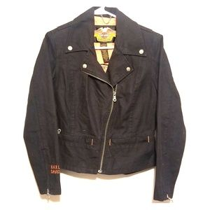 Harley-Davidson Black Denim Riding Jacket - XS